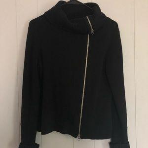 Zip up sweater turtleneck